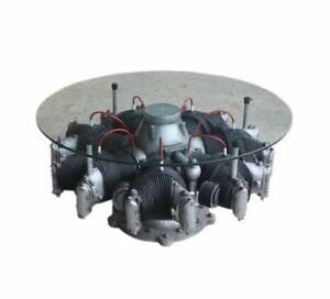Motor Flugzeug Flugzeugmotor Tisch Couchtisch Möbel Wohnzimmertisch Dekoration