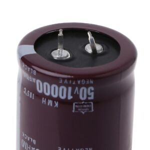 105°C 40°C to 10000uF 50V Power Electrolytic Capacitor Snap Fit Snap In