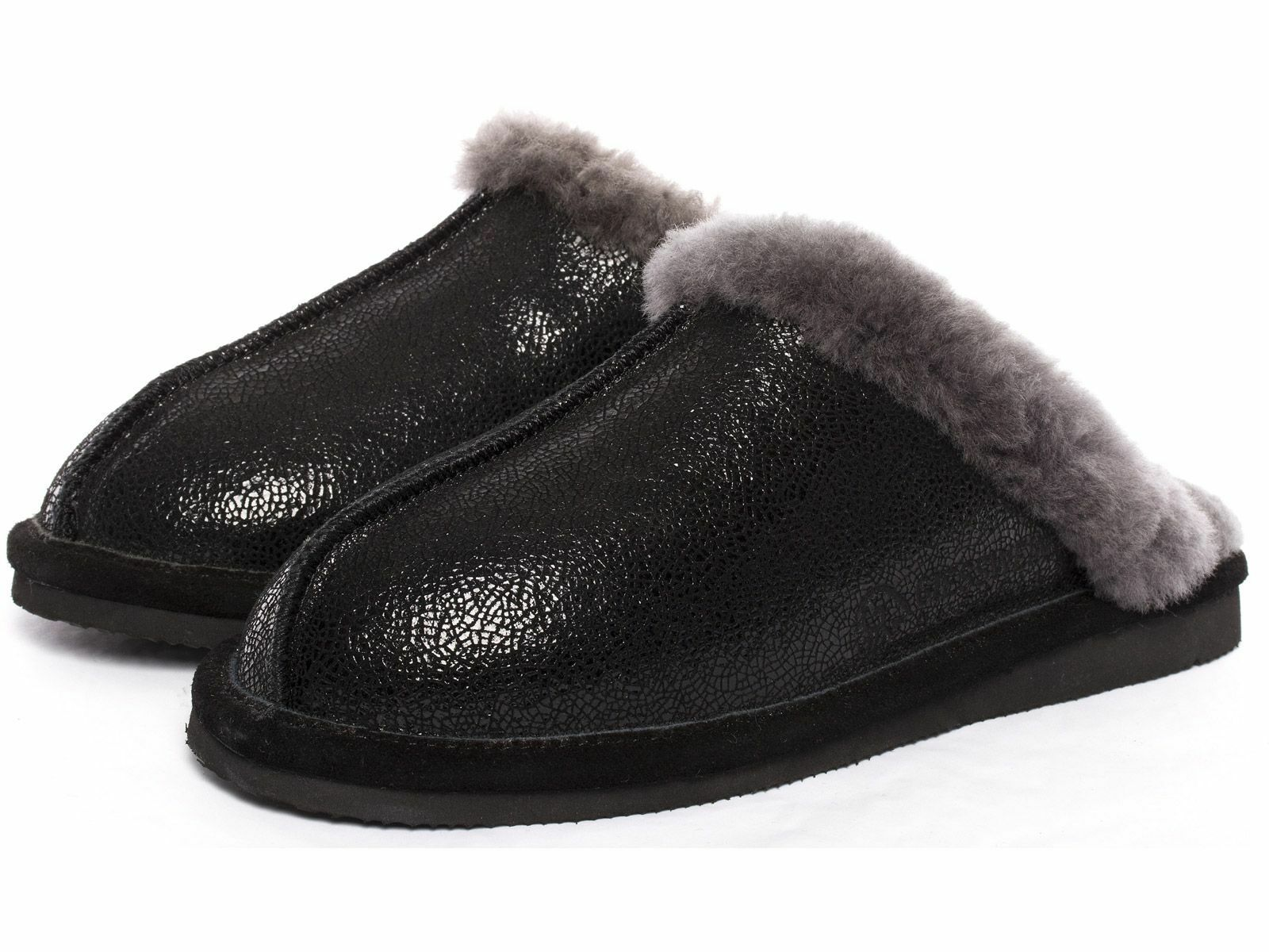 Giesswein Mering calde Agnello Pantofole Ciabatte 36 - 42 Nero Slipper