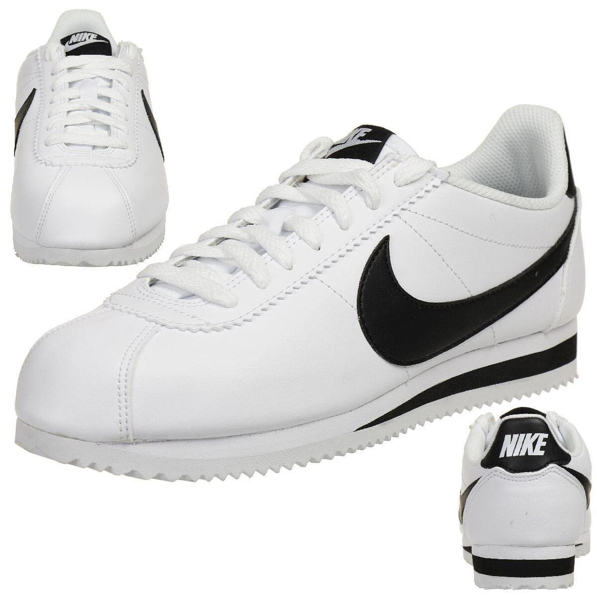 Nike Classic Cortez Cuir Baskets Femme Lifestyle Chaussures 807471 101