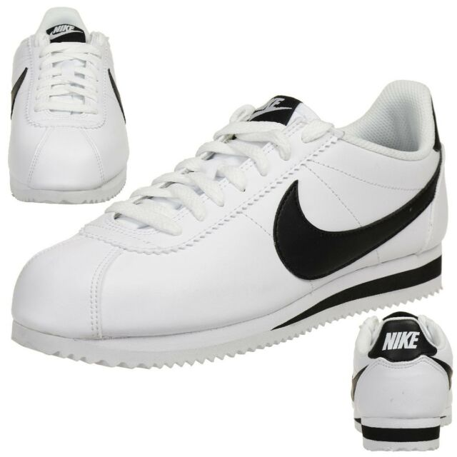 ed66791d67b6 Nike Classic Cortez Leather Women s Sneakers Lifestyle Shoes 807471 101