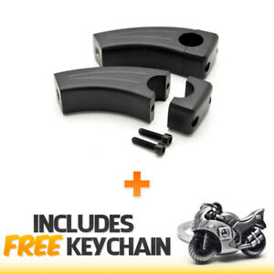"7//8/"" Bar 3.5/"" Chrome Motorcycle Handlebar Pullback Risers +Sportbike Keychain"