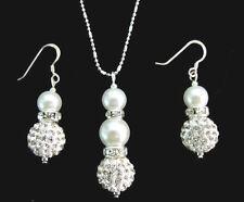 Ivory Bridesmaid Jewelry Set,Bridal Rhinestone wedding gift set Woman jewelry