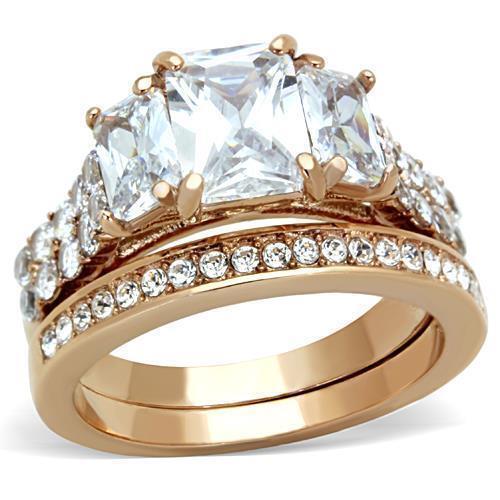 Huge 4.4ct Emerald Cubic Zircon CZ AAA Engagement Ring Size 5 6 7 8 9 10 TK1690