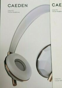 Caeden Linea No 1 Faceted Ceramic & Rose Gold On-Ear ...