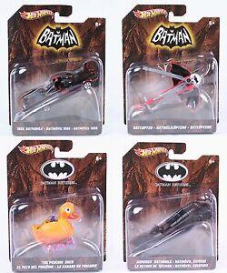 Hot-Wheels-Batman-Batmobile-Batcopter-Penguins-Duck-Armoured-toys-1-50-scale-NEW
