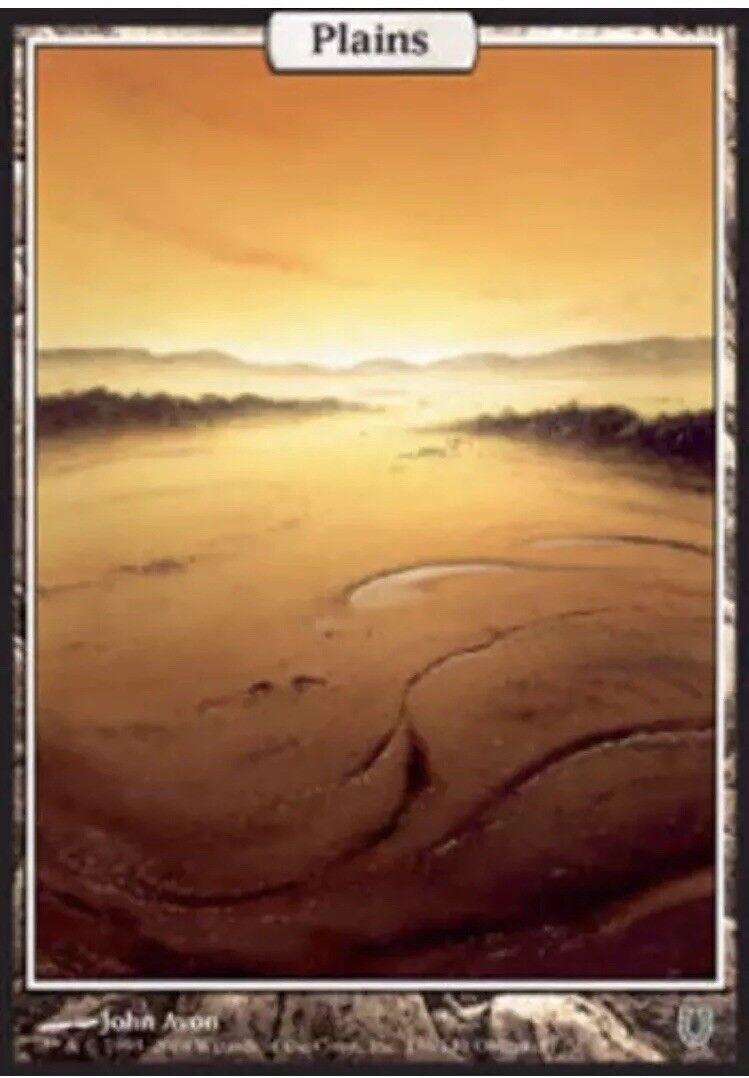 1x Plains (136) Foil Unhinged Light Play Play Play Magic Mtg 680658