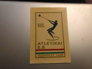 CARTOLINA-VIII-EUROPEI-ATLETICA-BUDAPEST-1966-VIAGGIATA-55