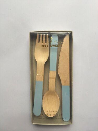 painted blue Meri Meri Birch cutlery