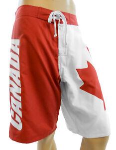 e031a4286e Image is loading CANADA-Canadian-Flag-Mens-Board-Shorts-Swim-Trunks-