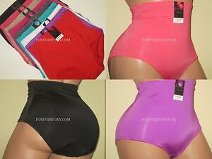 aaa8a136a81 6 or 4 Briefs High-Waist Girdles Tummy Control Panties Undies Silky ...