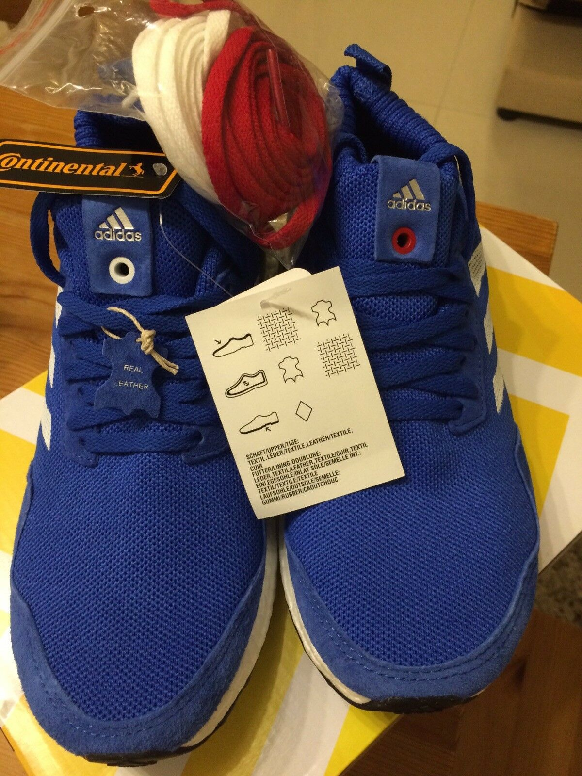 Adidas ULTRA BOOST MID 'RUN THRU TIME' - Blau - BY3056 US5.5  UK5 Real Leather