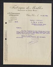 "CHATEAU-CHINON (58) MENUISERIE / MEUBLES Chene massif ""J.-M. THEVENIN"" en 1926"