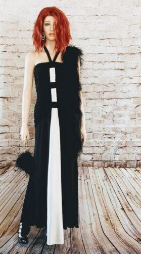VTG 1980s Jessica McClintock Black White Tuxedo St