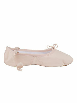 1004 Leinen Ledersohle Ballett Tanz Gymnastik Sport Schläppchen