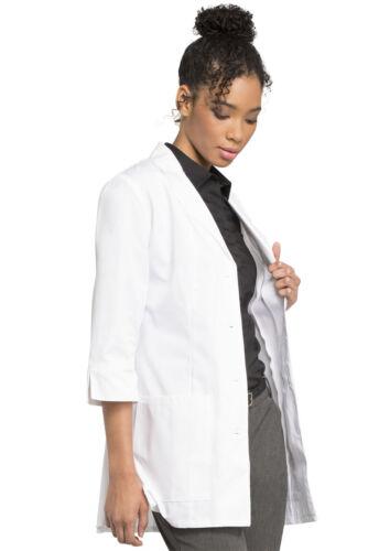 "White Cherokee Scrubs 30/"" 3//4 Sleeve Lab Coat 1470 WHT 1470A WHTD Antimicrobial"