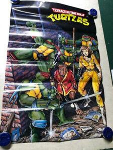Vintage-1988-Teenage-Mutant-Ninja-Turtles-Poster