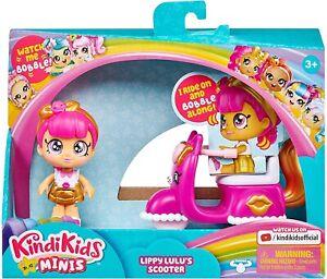 Kindi-Kids-Minis-Lippy-Lulu-039-s-Scooter-Collectible-Vehicle-amp-Posable-Bobble-Head