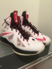 e94d5571bf4c item 1 Nike LeBron X Miami Heat 10 Home White Black Red 541100-100 Air  Jordan size 13 -Nike LeBron X Miami Heat 10 Home White Black Red 541100-100  Air ...