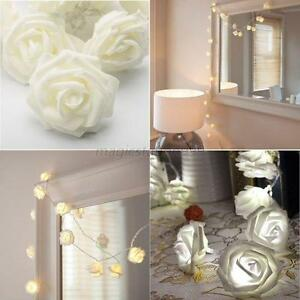 Image Is Loading Xmas String Lights Rose Flower Fairy 20 LED
