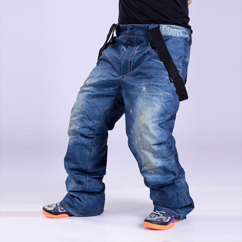 Men Ski  Pants Outdoor Winter Snowboard Waterproof Windproof Oxford Trousers Wear  healthy
