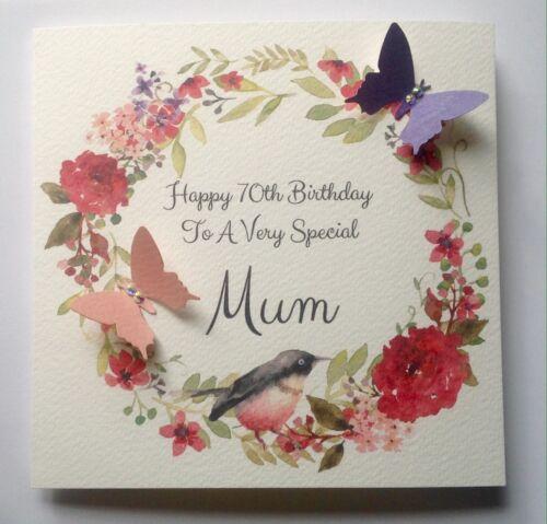 Personalised 50th 60th 70th 80th 90TH 100th Birthday Card Mum Nan Auntie Nanny