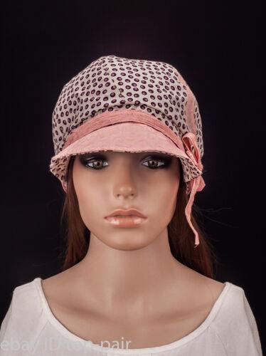 M487 Fashion Design Side Bow Lady Women Summer Cotton Sun Hat Newsboy Cap