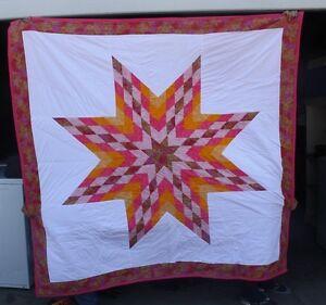 NEW NATIVE AMERICAN STAR QUILT 74X77 AMAZING CRAFTMANSHIP FREE ... : native american star quilt - Adamdwight.com