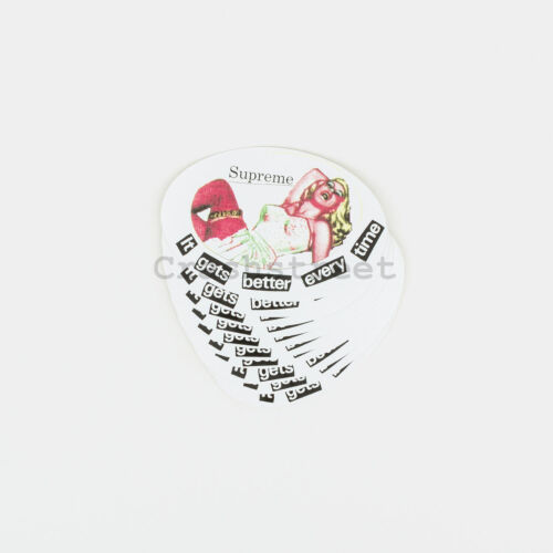 Supreme SS19 It Gets Better Every Time Sticker Set of 10 box camp tee logo White