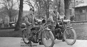 Flying Merkel 1914 motorcycle photo press photograph factory PR