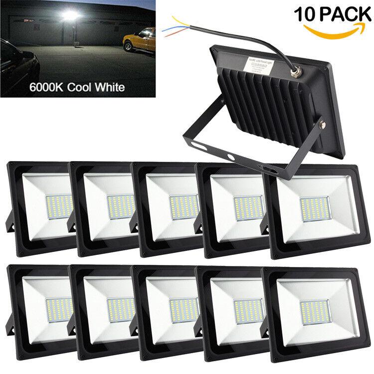 10X 50 W LED Luz de inundación IP65 Impermeable Proyector de seguridad nos lámparas comercial