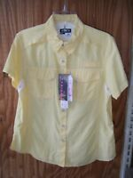 Woman's Habit River Guide Yellow Color Ss Shirt Size S, Med Or L
