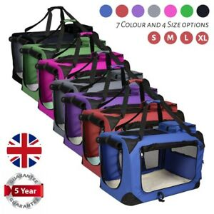 Image Is Loading AVC Portable Soft Fabric Pet Carrier Folding Dog