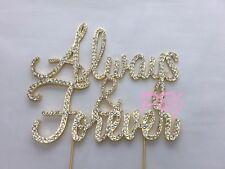 Rhinestone Always&Forever Wedding Cake Topper GOLD Crystal Monogram Free Ship