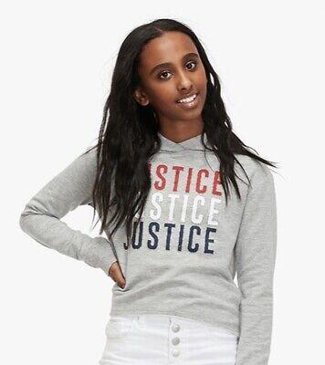 ⭐️ Choose Size NWT Justice Girls Red White /& Blue Graphic Hoodie // Sweatshirt