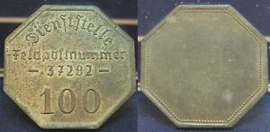 Token Coin 100 Pfennig Field Post 1940 3. Rich / Bulgaria XF