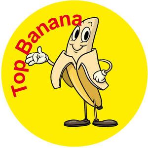 Top Banana Reward Stickers Great Well Done Kids