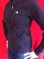 MuSt HaVe aDiDaS DaMeN Hoodie Sweater SCHWARZ Fitness Jacke Gr 34 36 40 44 46