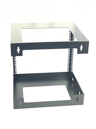 9U Wall Mount Open Frame 19/'/' Server Equipment Rack Threaded 15 inch depth Black