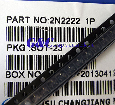 100PCS MMBT2222 SOT-23 2N2222 SMD NPN Transistor NEW GOOD QUALITY