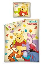 Winnie The Pooh Lenzuola.Copripiumino Cotone Singolo Una Piazza 160x200 Disney Winnie Pooh Friends Puzzle