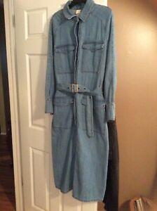 H & M Woman Conscious Denim Belted Midi Shirt Dress Size 10 NWT   eBay