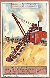 Excavator-Excavateur-Heavy-Construction-Equipment-1930s-Trade-Ad-Card