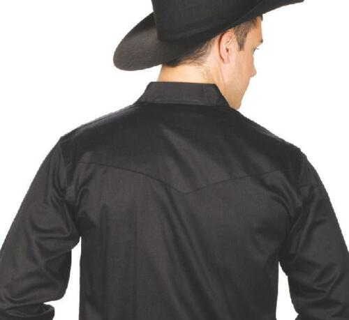 MEN/'S Solid Color Western Show Shirt Black 4XL NEW