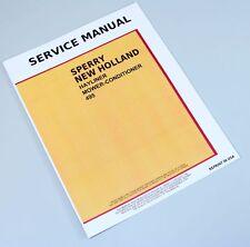 New Holland 495 Haybine Mower Conditioner Service Repair Shop Manual Technical