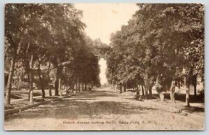 Sioux-Falls-South-Dakota-Duluth-Avenue-Homes-Both-Sides-Street-1909-Sepia-PC