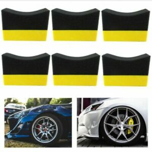 6x-Tire-Contour-Dressing-Applicator-Pads-Gloss-Shine-Color-Polishing-Sponge-Wax