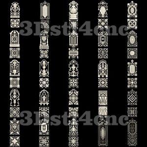 25-3D-Models-STL-CNC-Router-Artcam-Aspire-Door-Decorations-Cut3D-Vcarve