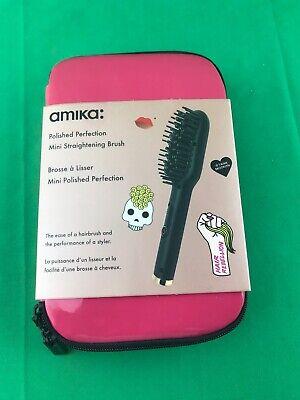 Amika Polished Perfection Mini Straightening Brush DUAL VOLTAGE NEW   eBay