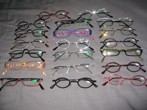 Swarovski Crystal Jeweled Reading Glasses +2.25 Bling Frames Lenses NEW!